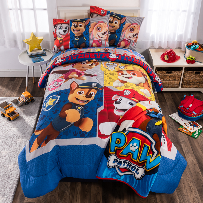 overhead paw patrol front two pillows with cuddle_